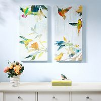Madison Park Hummingbirds Hum Canvas Wall Art 2 pc Set