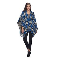Apt. 9® Reversible Frayed Plaid Ruana