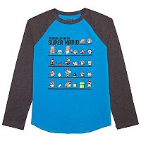 Boys 8-20 Super Mario Bros. Raglan Tee
