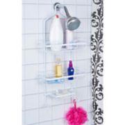 Bath Bliss White Aluminum Shower Caddy