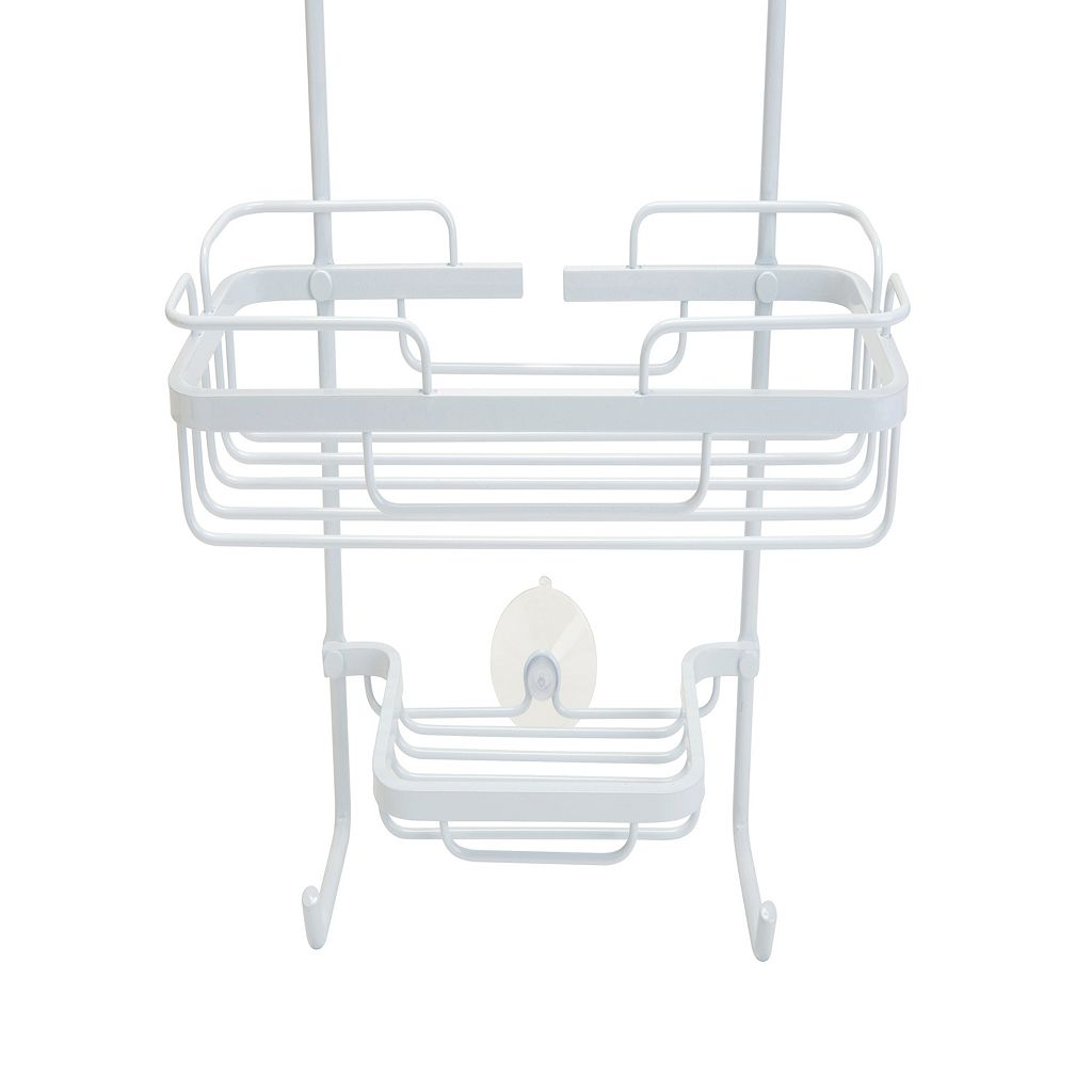 Bath Bliss White Aluminum Shower Caddy