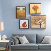 Madison Park Autumn Orchard Framed Canvas Wall Art 4-piece Set