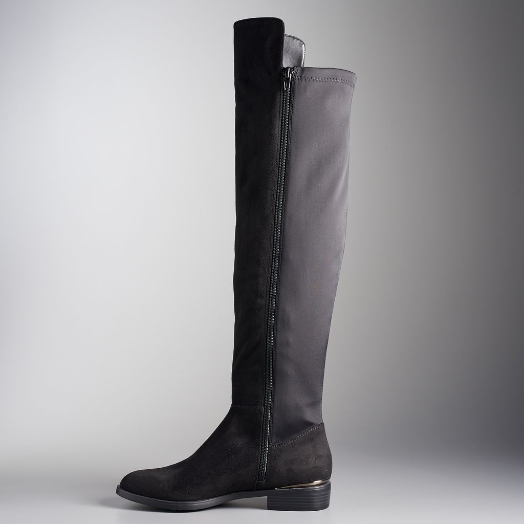 Simply Vera Vera Wang Florence Women's Over The Knee Boots