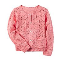 Girls 4-8 Carter's Solid Crocheted Cardigan