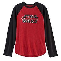 Boys 8-20 Star Wars: Episode VIII The Last Jedi Raglan Tee