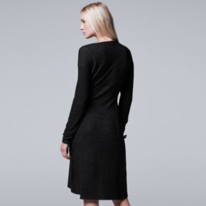 Petite Simply Vera Vera Wang Asymmetrical Drapeneck Dress
