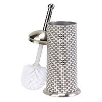 Bath Bliss Toilet Bowl Brush & Basketweave Holder