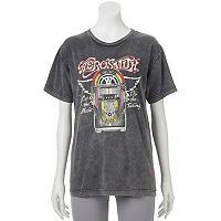 Juniors' Aerosmith Jukebox Graphic Tee