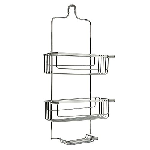 Bath Bliss Clear Accent 3-Tier Shower Caddy