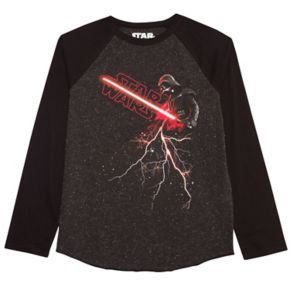 Boys 8-20 Star Wars Darth Vader Raglan Tee