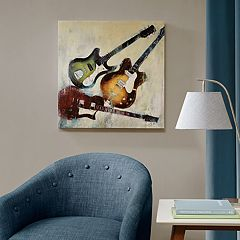 Madison Park 3 Guitars Canvas Wall Art