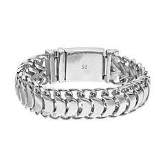 FOCUS FOR MEN Stainless Steel Men's Polished Link Bracelet