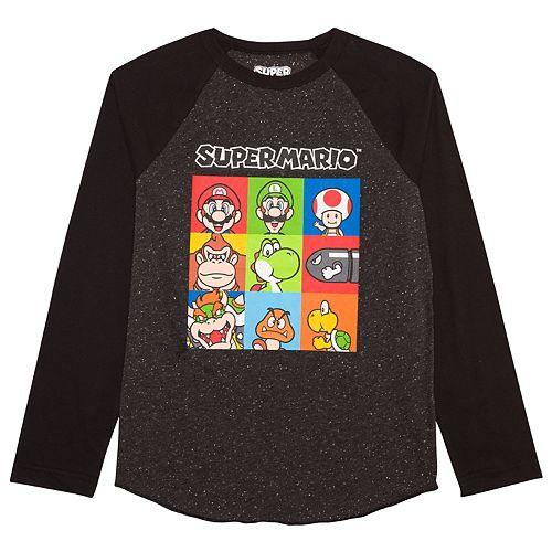 Boys 8-20 Super Mario Bros. Character Raglan Tee