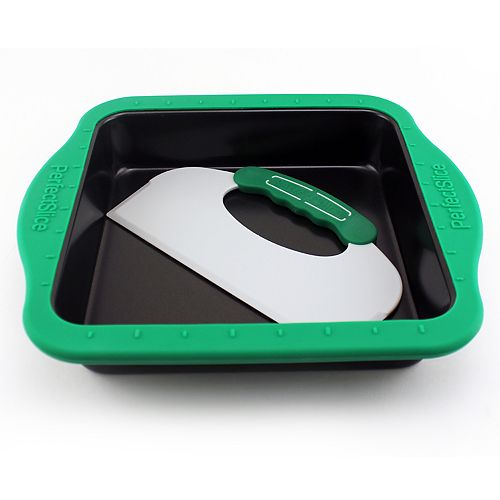 BergHOFF Perfect Slice Square Cake Pan with Silicone Sleeve & Tool