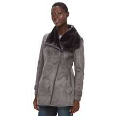 Women's Weathercast Faux-Shearling Midweight Jacket