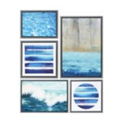Madison Park Water Tide Framed Canvas Wall Art 5-piece Set