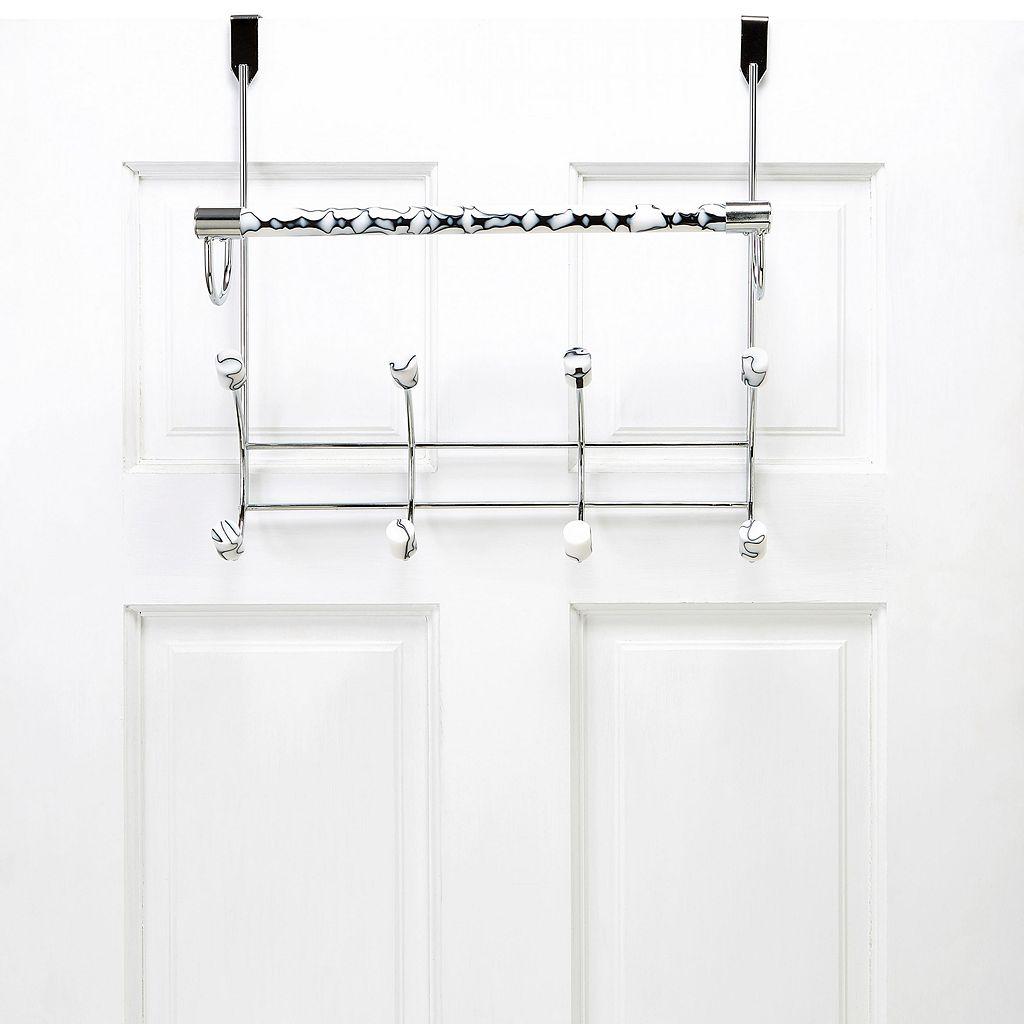 Bath Bliss Faux Marble Over The Door Towel Bar & 8-Hook Rack