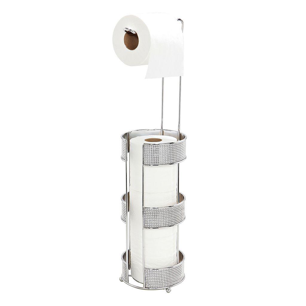 Bath Bliss Tissue Roll Holder & Storage Stand