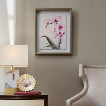 Madison Park Signature Morning Orchid 1 Framed Wall Art
