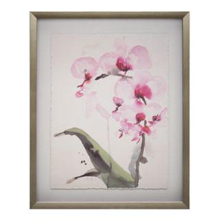 Madison Park Signature Morning Orchid 1 Framed Wall Art