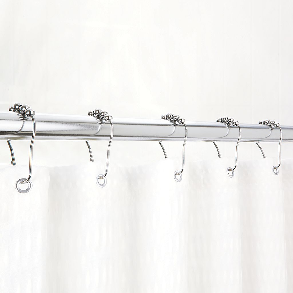Bath Bliss Easy-Glide Shower Curtain Rings