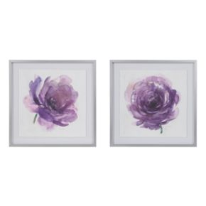 Madison Park Signature Purple Ladies Rose Framed Wall Art 2-piece Set