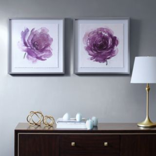 Madison Park Signature Purple Ladies Rose Framed Wall Art 2-piece Set