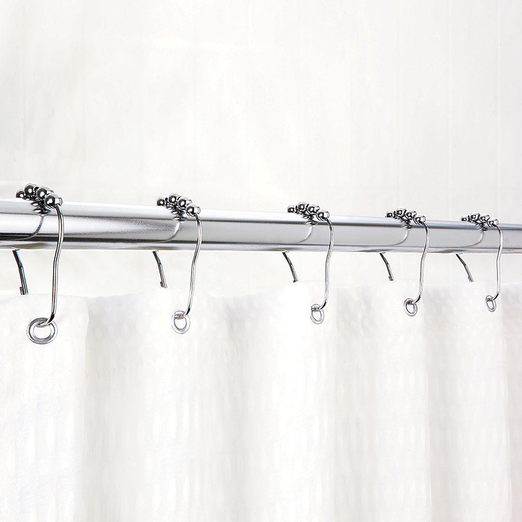 Bath Bliss Easy-Glide Bead Shower Curtain Rings