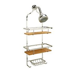 Laura Ashley Bamboo Shelf Shower Caddy