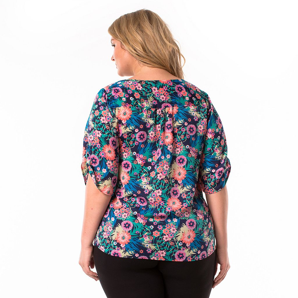 Plus Size Maternity Pip & Vine by Rosie Pope Shirred Top