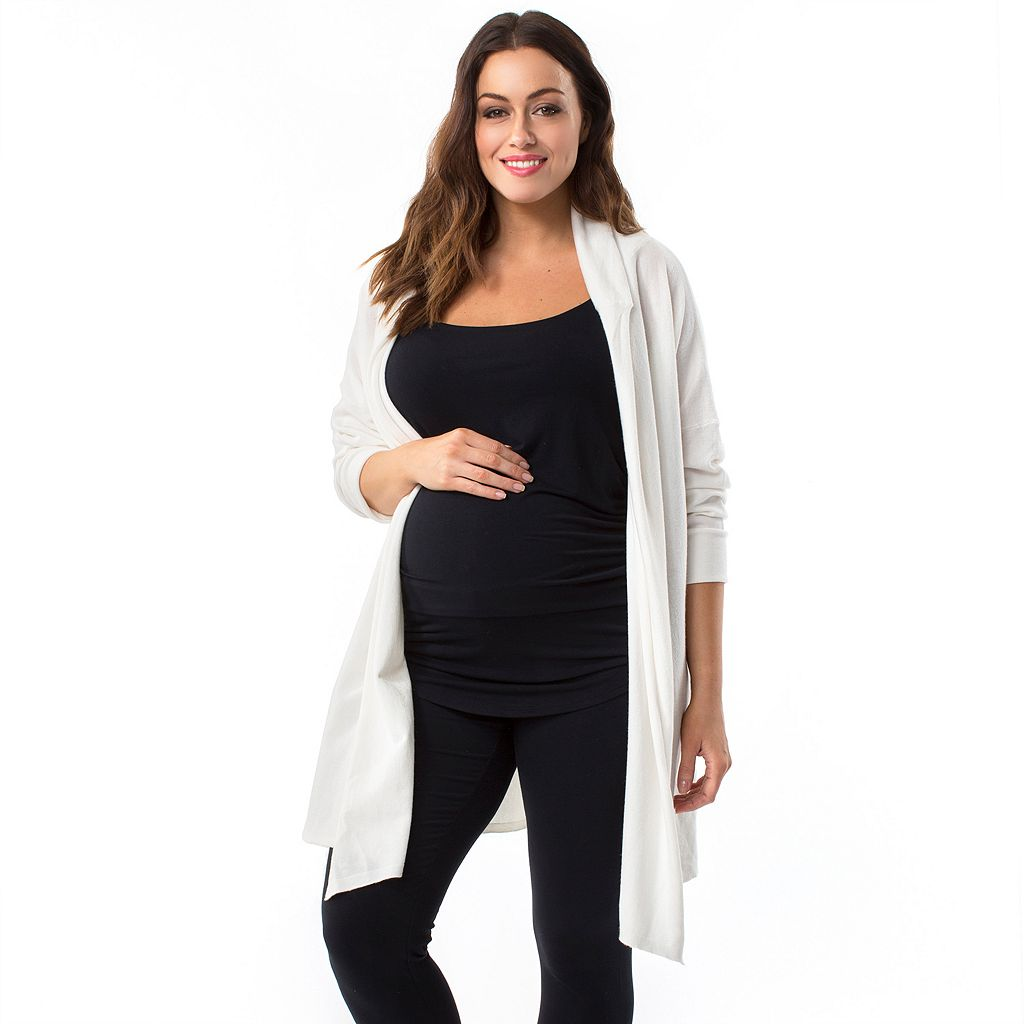 Plus Size Maternity Pip & Vine by Rosie Pope Long Cardigan