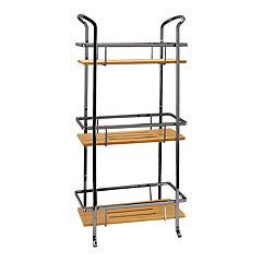 Laura Ashley Lifestyles Bamboo Shelf Black 3-Tier Spa Tower