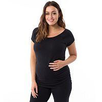 Plus Size Maternity Pip & Vine by Rosie Pope Ruched Tee