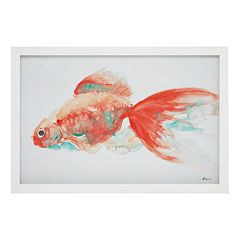 Urban Habitat Gilbert Goldfish Framed Wall Art
