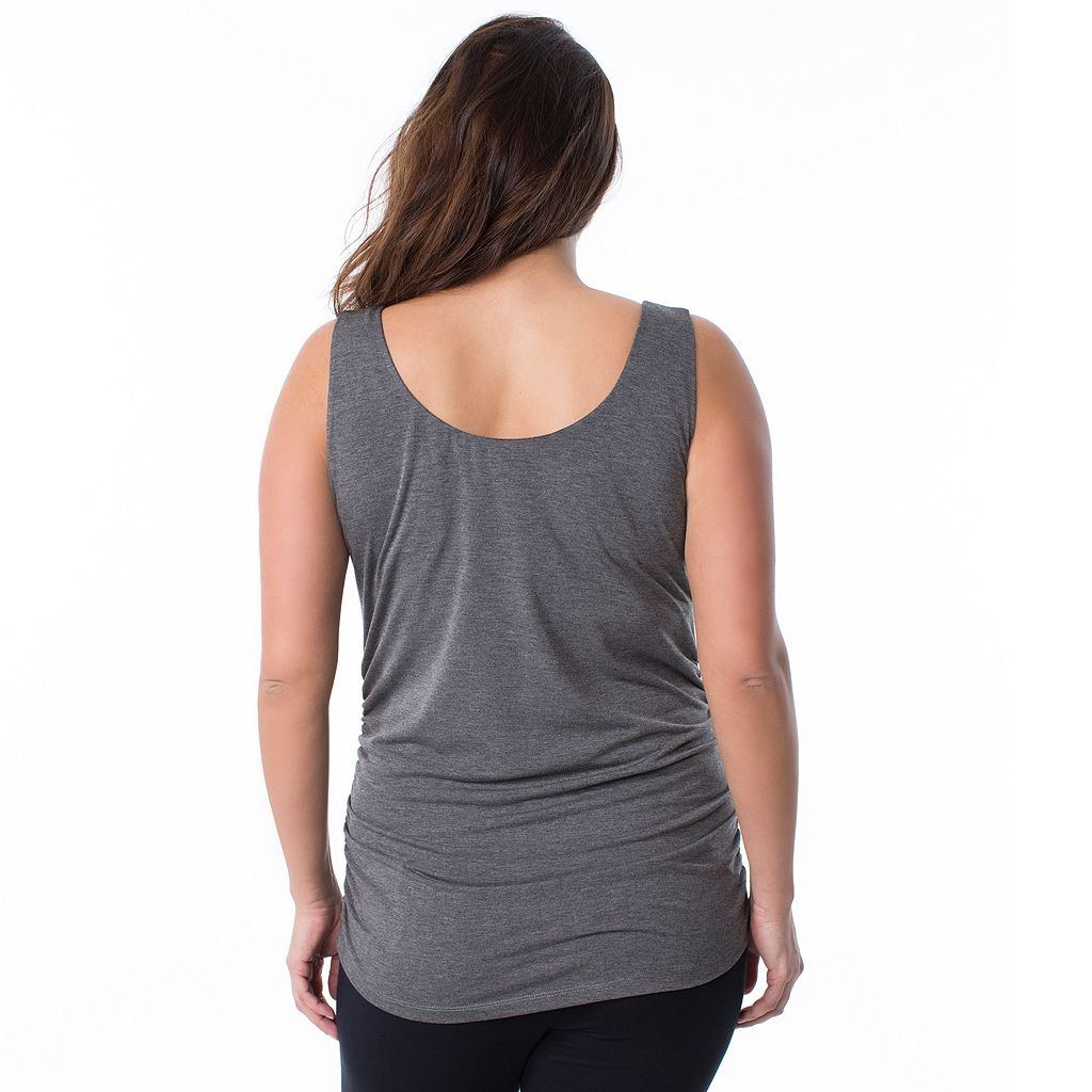 Plus Size Maternity Pip & Vine by Rosie Pope Ruched Tank