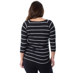 Plus Size Maternity Pip & Vine by Rosie Pope Ruched Raglan Tee
