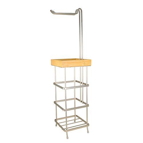 Laura Ashley Flat Wire Tissue Roll Holder & Storage Stand