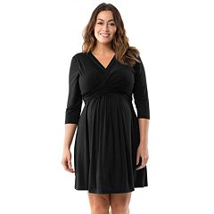Plus Size Maternity Pip & Vine by Rosie Pope Wrap Nursing Dress