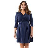 Plus Size Maternity Pip & Vine by Rosie Pope Wrap Nursing Dress