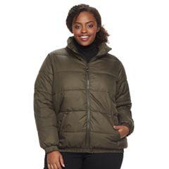 Plus Size Apt. 9® Bomber Puffer Jacket