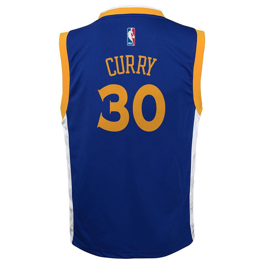 Boys 8-20 adidas Golden State Warriors Stephen Curry NBA Replica Jersey