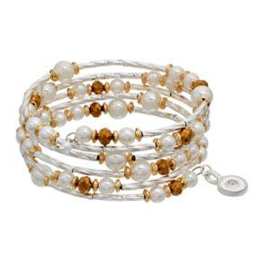Jennifer Lopez Simulated Pearl Beaded Coil Bracelet