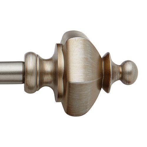Bali Pawn Urn Decorative Curtain Rod