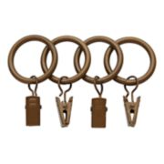 "Bali 7-pack 1"" Curtain Rod Rings"