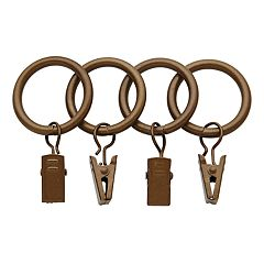 Bali 7-pack 1' Curtain Rod Rings