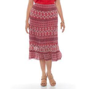 Plus Size Dana Buchman Tiered Maxi Skirt