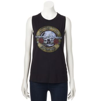 "Juniors' Guns N' Roses ""Appetite For Destruction"" Graphic Tank"