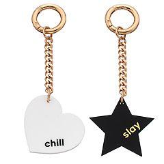 'Slay' Star & 'Chill' Heart Key Chain Set