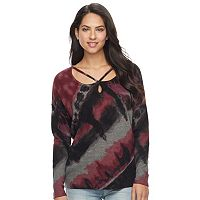 Women's Rock & Republic® Tie-Dye Strappy Sweater