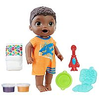 Baby Alive Brunette Hair & Brown Eyes Super Snacks Snackin' Luke Doll by Hasbro